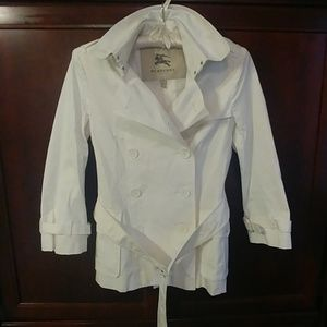 Burberry London White cotton trench coat